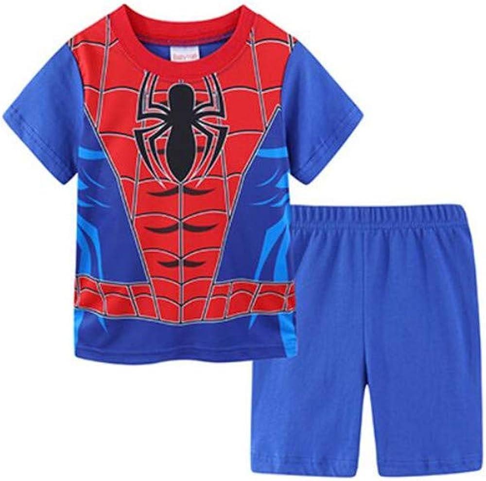 Little Boys Summer Pajamas Short Kids Pjs Sets 100%Cotton Toddler Sleepwear