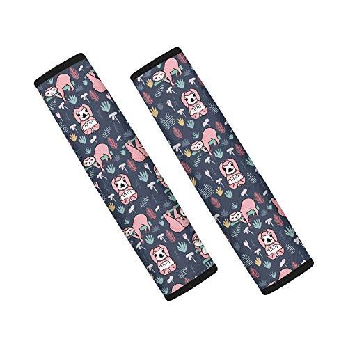 Pizding Funda protectora para cinturón de seguridad con diseño de hojas tropicales para bebé, ideal para mochilas, bolsas de hombro, para ordenador portátil