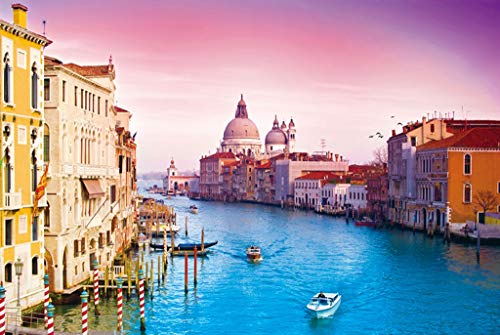 Impossible The Grand Canal Venice Italy ,Wooden Jigsaw Puzzles for Adults Kids, 300/500/1000 Pieces for Boy Girl Friends Gift Toys Game Home Decoration ( Color : A , Size : 300pcs )