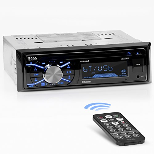 Boss Audio Systems 508UAB Multimedia Car Stereo - Single Din, Bluetooth Audio/Hands-Free Calling, Built-in Microphone, CD/MP3/USB/AUX Input, AM/FM Radio Receiver, Wireless Remote Control