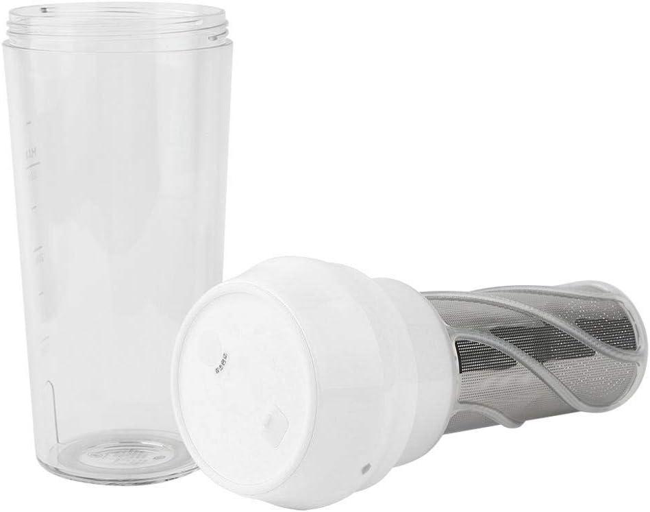 Licuadora portátil, Mootea Mini Juice Cup Exprimidor eléctrico para el hogar Máquina automática de jugos para viajes de picnic al aire libre(Blanco) Blanco