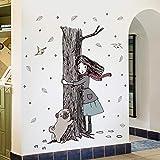LSDAEER Eucalyptus Girl Etiqueta De La Pared De Pvc Películ