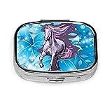 Magical Violet Unicorn - Pastillero para vitaminas y tabletas, diseño de unicornio