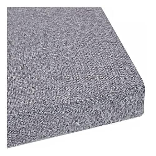 Cuscino per panca da interni ed esterni, 100/120 cm, cuscino per panca da giardino, 2 3 posti, 5 cm, per sala da pranzo e patio (100 x 30 x 5 cm, colore: Grigio) ( Color : Gray , Size : 70X30X5cm )