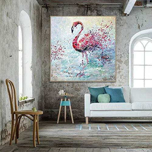 tzxdbh Canvas Schilderij Flamingo Vogel Animal Wall Art Foto's Voor Woonkamer Prints en Posters Cuadros Wandschilderij Geen Frame-in Schilderij & Kalligrafie van Huis & Tuin Groep 12x12cm With Frame