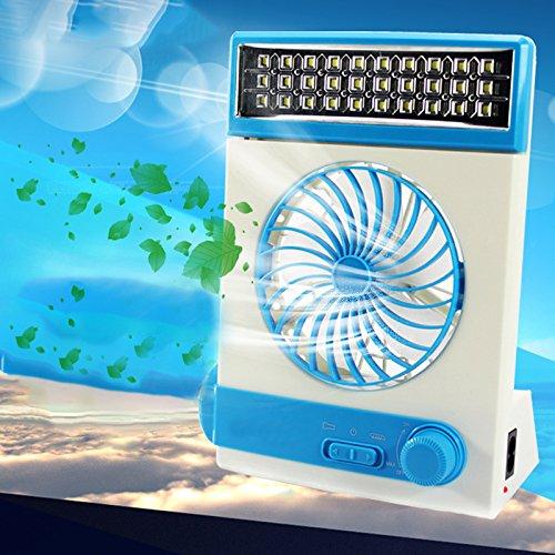 Zantec Ledlamp op zonne-energie, mini-ventilator, USB, draagbaar, met led-tafellamp en zaklamp voor camping in de buitenlucht