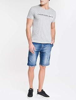 Camiseta Básica Manga Curta Calvin Klein Brasil Masculino