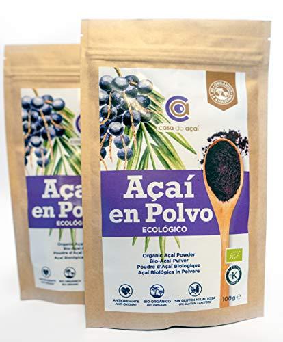 Açaí biologico in polvere, Pure Açaí Berry Organic Powder biologico, bacche di acido organico in polvere, di polpa di acai, superalimento da coltivazione nativa dell'amazzonia