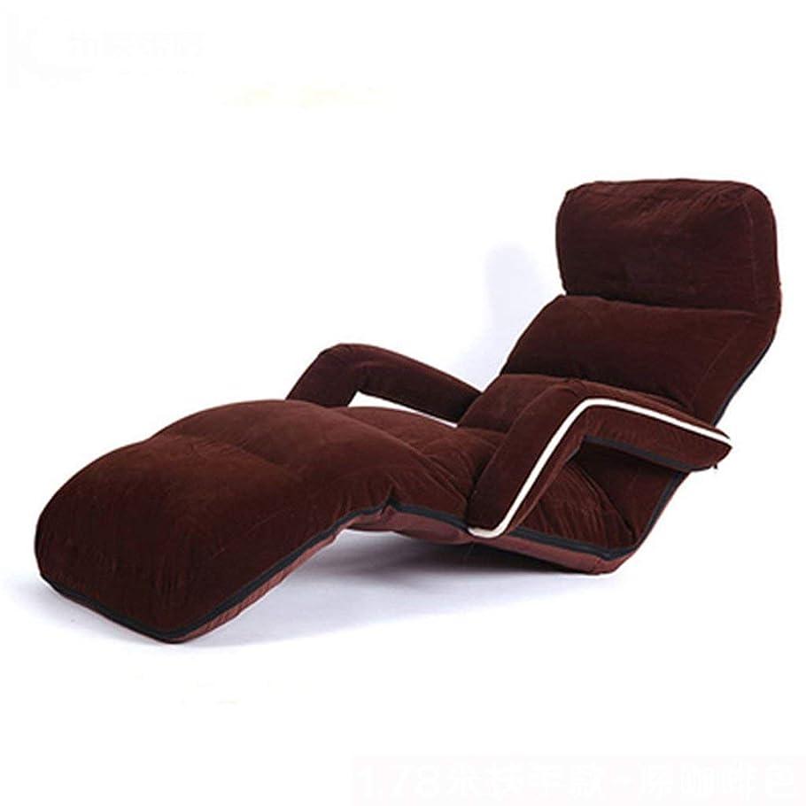 従順なスクランブルステップ怠惰なソファ、背もたれ付きのソファチェア付きの布張りのベッド出窓付きのシングルソファーベッドチェア(色:F)