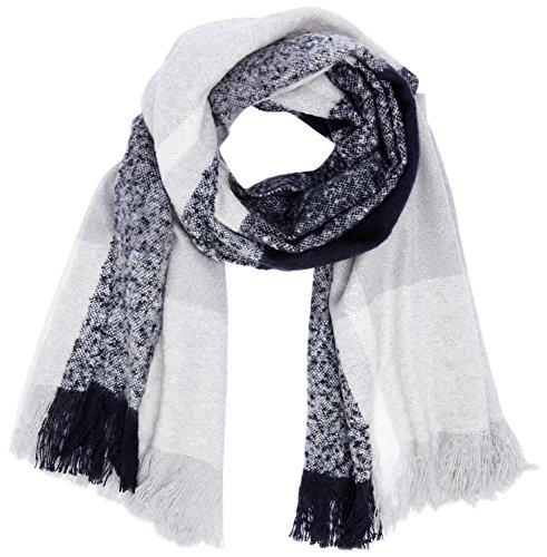 ONLY Damen onlPESA Weaved Check Scarf Acc NOOS Schal, Mehrfarbig (Night Sky Checks:Cl. Dancer/Glacier Grey), One Size