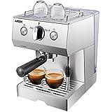 AICOK Cafetera Espresso, 1140W, Depósito extraíble de 1,5 l, 20 Bares, Doble opción de...