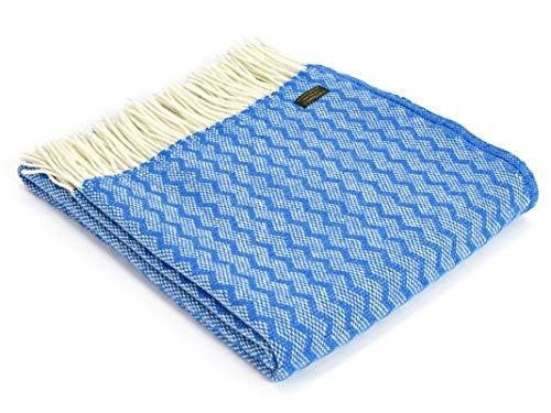 Tweedmill Textiles Zig Zag - Manta lana pura 100%