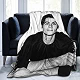 Gadimen Dylan O'Brien Throw Blanket, Super Soft Lightweight Flannel Fleece Blankets for Bed Couch Sofa, All Season Warm Cozy Fuzzy Plush Microfiber Blanket for Hot Sleepers 50x40 inches