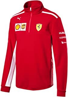 Ferrari Scuderia Formula 1 Men's Red 2018 1/2 Zip Team Fleece w/Sponsors (Large)