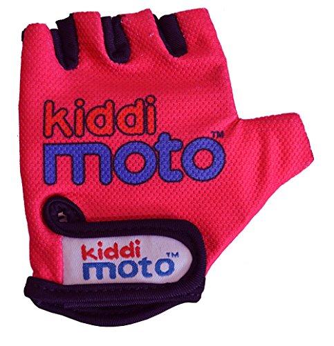 KIDDIMOTO Kinder Fahrrad Handschuhe Gr.S Glv018, neon pink, 2 Jahre