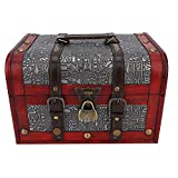2-lagige Aufbewahrungsbox, Schmuckbehälter für Heimorganisatoren, Vintage-Schmuckschatulle aus...
