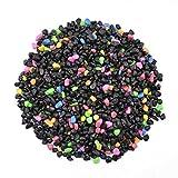 CNZ Aquarium Gravel Black & Flourescent Mix for Plant Aquariums, Landscaping, Home Decor, 0.25'-0.35', 5-Pound