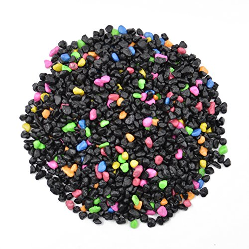 CNZ Aquarium Gravel Black & Fluorescent Mix