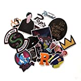 Supersenter TV Show Themed Riverdale 15 Piece Serpents Sticker Decal Set for Kids Adults - Laptop Motorcycle Skateboard Patch Decals