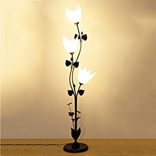 Table Lamp Floor Light Lamp Floor Lamps Three-Lamp Flower Design Multi-Function Floor Lamp, White Acrylic Lampshade, Livin...