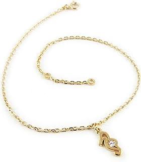 Altesse [L1734] - Catena caviglia 'Hypocampe' oro placcato.