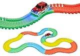 World Tech Toys - Circuit de Voiture Flexible, modulable, Luminescent avec Ses Accessoires - 220 pièces--