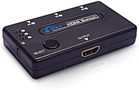 Dynamode C-HDMI-31 LMS DATA Port HDMI Switch with Remote Control Black...
