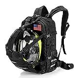 Motorcycle Cycling Helmet Backpack for Men Women, Large Capacity Waterproof Helmet Holder, Helmet Storage Bag School Backpack, Black