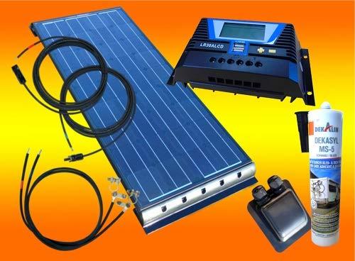 bau-tech Solarenergie 100Watt WoMo Solaranlage in schwarz für Wohnmobile, Boote, Camping u.v.m GmbH