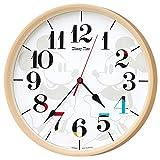 セイコー クロック 掛け時計 ミッキーマウス ミニーマウス 電波 アナログ ミッキー&フレンズ Disney Time ディズニータイム 薄茶 FW584A SEIKO