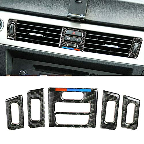Semine Auto Air Vent Outlet Innenverkleidung Carbon Zubehör für BMW E90 E92 E93