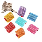 WishLotus Cat Toys, 5pcs Cat Spring Toy Kitten Teething Toys Colorful and Interactive Telescopic Funny Cat Jumping Toy Flexible & Coil Spiral Springs Kitten Chew Toys to Kill Time and Keep Fit