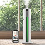Large Smart Humidifiers for Large Room, Greenhouse, Compatible with Tuya APP & Alexa Voice Control, Whole House Humidifiers(1.85Gal/7L) with Light Function, Easy to Clean