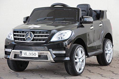 RC Auto kaufen Kinderauto Bild: Kinder Elektro Auto Mercedes Benz ML350 2x25W 12V Elektroauto Kinderfahrzeug Ferngesteuert Elektro ml 350 (Schwarz)*