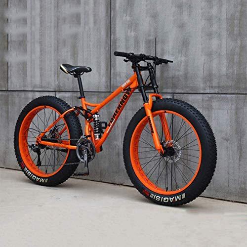 DULPLAY 24 Pollici Mountain Bike,Bicicletta da Strada Racing per Uomini Donne Adulto,Acciaio Ad Alto Tenore di Carbonio Telaio,21 velocità Bicicletta,Freno A Doppio Dischi Arancione 24',21-velocità