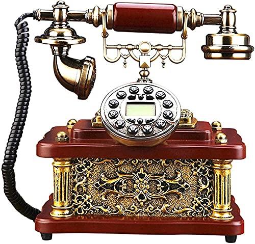 Adornos telefónicos decorativos Regalo para la decoración del hogar Teléfono clásico de la vendimia, pulsador Retro teléfono fijo teléfono antiguo, para el hotel Home Office Decor Style Retro teléfono