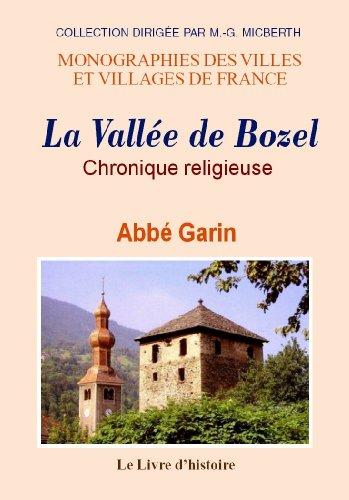 La vallée de Bozel. : Chronique religieuse