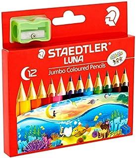 ステッドラー(STAEDTLER) LUNA Jumbo coloured pencils(ハーフサイズ) 色鉛筆 12色 ジャンボ色鉛筆 [並行輸入品]