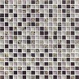 Pegado en Mallas de 30x30cm. Modelo M019 Cottoceram Medida 4,8x4,8cm Negro Mate Mosaico enmallado de Porcelanico