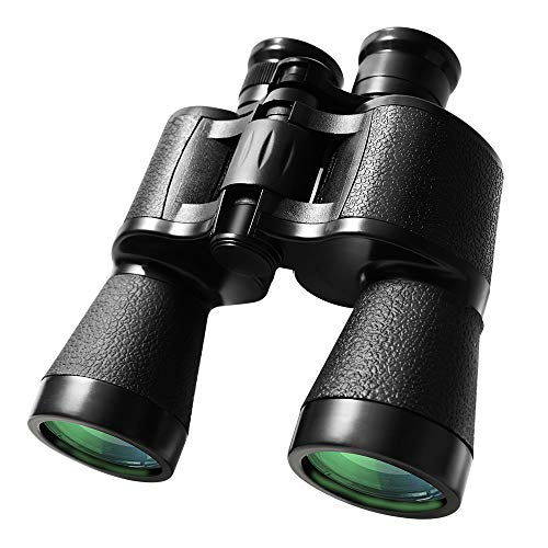 WHHW 10 x 50 Powerful HD Binoculars for Adults - Professional Clear Waterproof Compact Binoculars for Bird Watching/Travel/Sightseeing/Hunting/Wildlife Watching/Outdoor Sports Games and Concerts