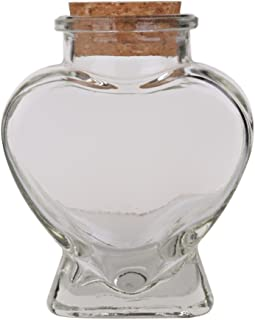 Mini Heart Shape Glass Bottle with Cork fit for DIY Decorating ANG Gift