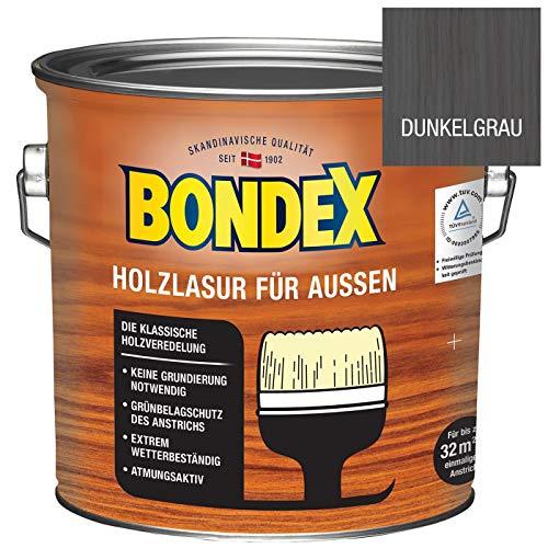 Bondex Holzlasur für außen dunkelgrau 2,5 Liter