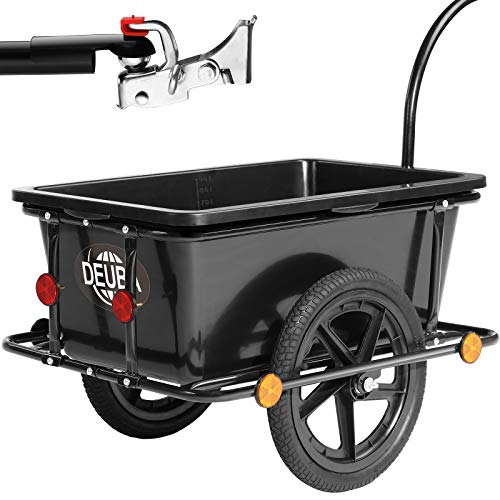 Deuba Remolque para Bicicletas para Carga de Equipaje máx.80Kg 90L...