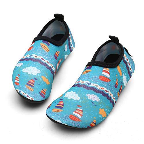 Zapatos de Agua Niños Niña Respirable Zapatos de Playa Aire Libre para Piscina de Playa...