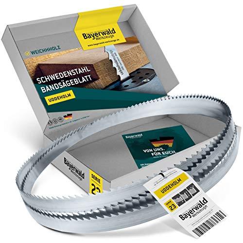 Bayerwald Uddeholm - Hoja de sierra de cinta (4470 x 20 x 0,8 x 7 mm, apta para todo tipo de madera/sierra de cinta)