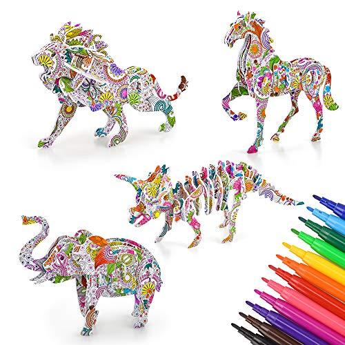 Regalos de manualidades para niñas de 6 7 8 9 10 años de edad, juegos de arte de rompecabezas en 3D para niños de 4 a 10 años regalo de cumpleaños juguetes educativos para niños de 9 a 12 años adultos