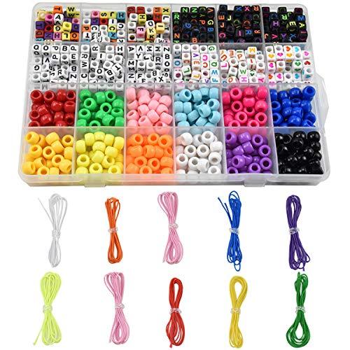 20 Draw Bench perles cœur coloré MIX 18 mm TROU 2 MM Chaînes bricolage enfilant