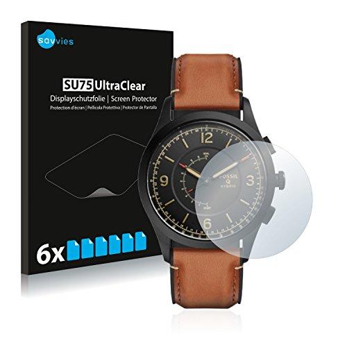 Savvies 6X Schutzfolie kompatibel mit Fossil Q Activist Bildschirmschutz-Folie Ultra-transparent