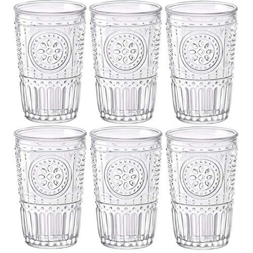 Bormioli Rocco Romantic Confezione 6 Bicchieri 30,5 cl, Vetro, Trasparente, 8 x 8 x 12.5 cm
