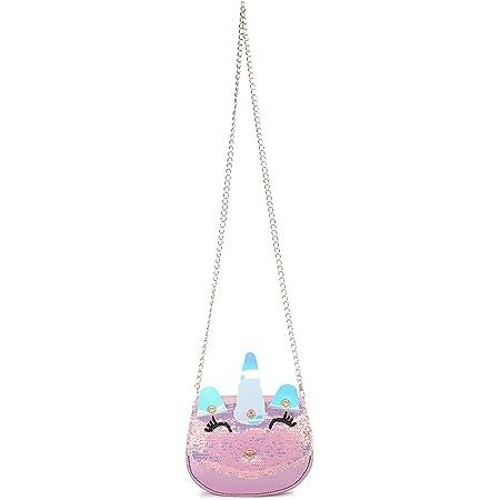 Sanjis Enterprise Women Shiny Sequin Messenger sling Bag Girls Cute Uneecorn Glitter Sequins Adjustable Crossbody Purses Handbag Shoulder Bag for Kids Little Girls Birthday Gift